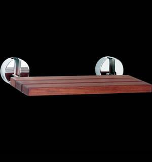 LADA Folding Wall-mount Fold-up Teak Wood Shower Seat