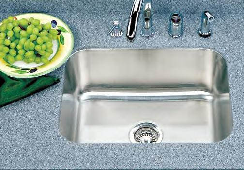 Houzer Medallion Classic MS-2309 Single Bowl Undermount SS Sink