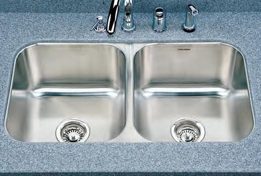 Houzer Medallion Classic MD-3109 Double Bowl Undermount SS Sink