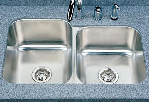 Houzer Medallion Classic MEC-3220 Double Bowl Undermount SS Sink