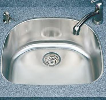 Houzer Medallion Designer MS-2409 Single Bowl Undermount SS Sink