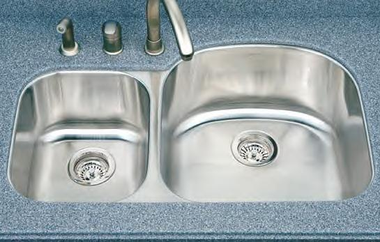 Houzer Medallion Designer MC-3210SL Double Bowl Undermount SS Sink