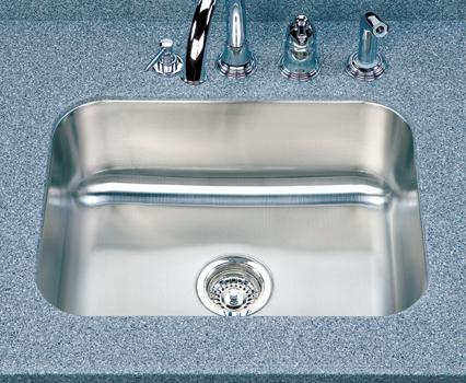 Houzer Elite ES-2408 Single Bowl Undermount SS Sink