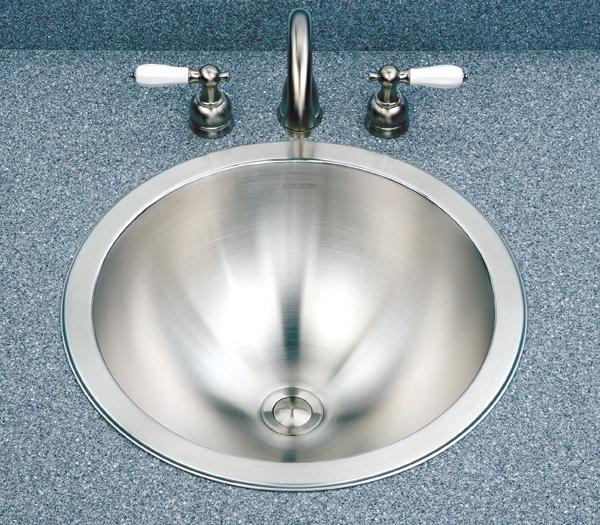 Houzer Club CRT-1620 Lavatory Topmount Round / Conical Stainless Steel Bowl