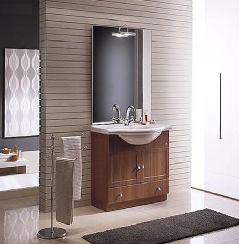 BMT Astrid Comp-7 Bathroom Vanity with Integrated Porcelain Top 33-1/2
