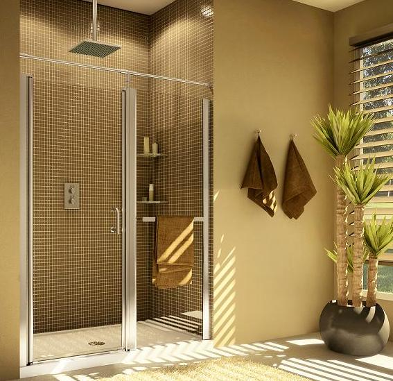 Fleurco Sevilla - Door & Fixed Panel Shower Door