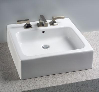 TOTO LT645G - Square Vessel Lavatory with SanaGloss