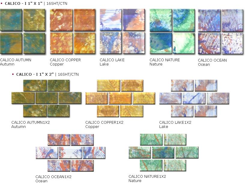 Power Line Calico Series Glass Mosaic Tile