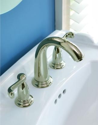 Hansgrohe Swing 06118 Widespread Faucet with Scroll Handles