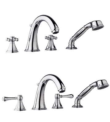 Grohe 25506 Geneva Roman Tub Filler Faucet with Personal Hand Shower