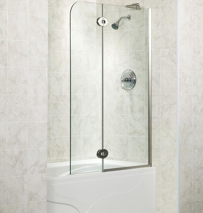 fleurco monaco tub shield folding frameless glass tub door