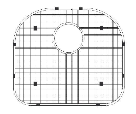 LADA BG2225 Stainless Steel Sink Bottom Grid