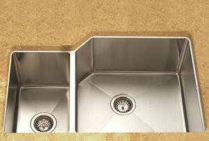 LADA LD3020L Undermount Offset Double Bowl Kitchen Sink