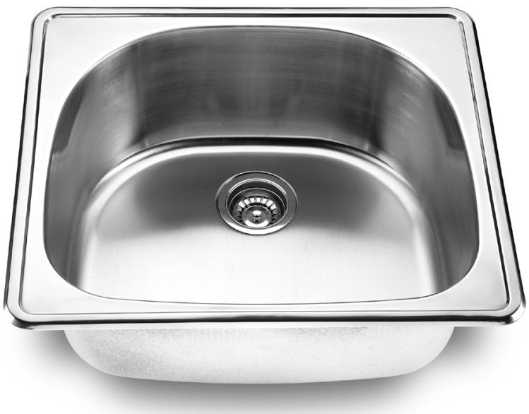 LADA LD2225 Single Bowl D-Shape Topmount SS Kitchen Sink