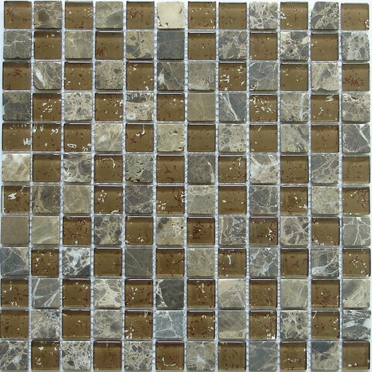 LADA GS10 Glass & Stone Mixed Series Mosaic Tile