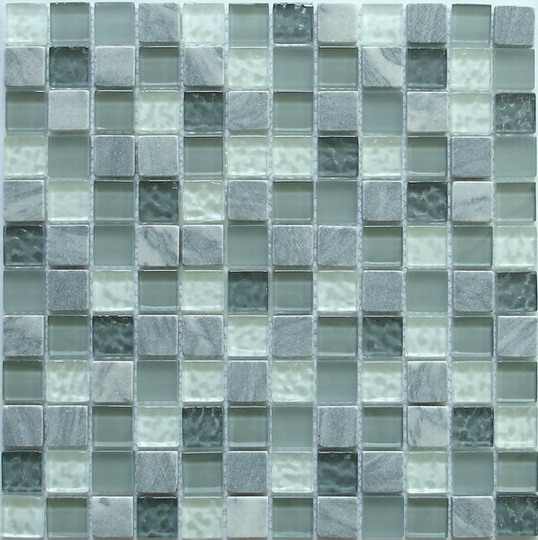 LADA GS08 Glass & Stone Mixed Series Mosaic Tile