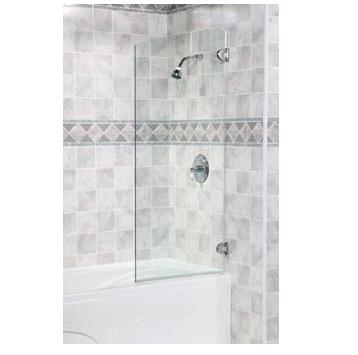 Fleurco Solo Tub Shield Frameless Glass Shower Door