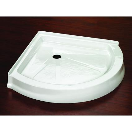 Fleurco Belly Round ABB36 Acrylic Corner Shower Base