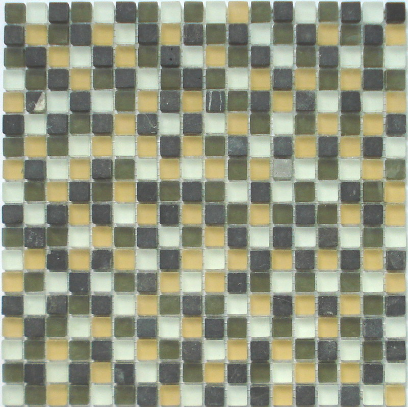LADA GS35 Glass & Stone Mixed Series Mosaic Tile
