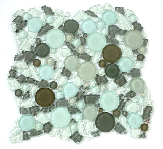 Mirage Lagoon Series LG803 Icy Peak Glass Mosaic Tile