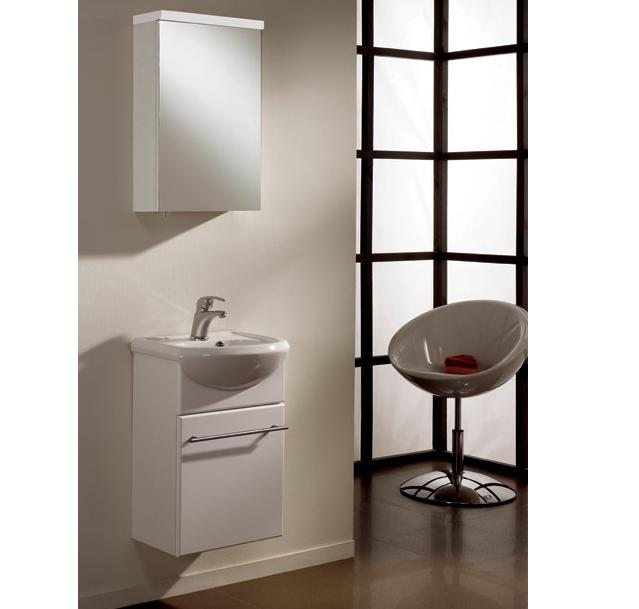 LADA Spazio 45 Compact Bathroom Vanity set with Mirror Cabinet 18