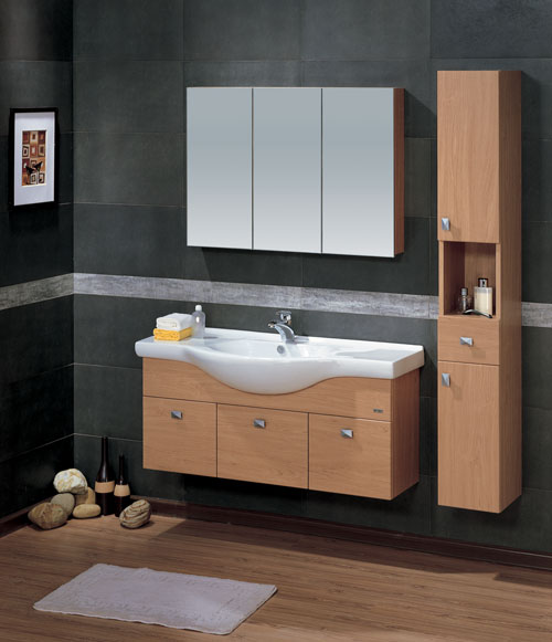 LADA Madrid 120 Bathroom Vanity Set with Mirror Cabinet 48