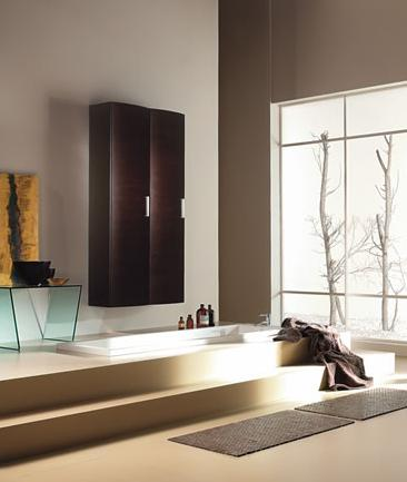 BMT Vanity Line Collection Bathroom Storage Linen Cabinet in Wenge Wood