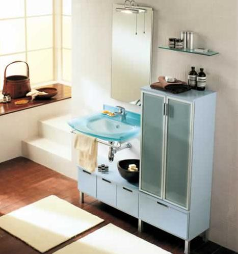 BMT Domina Collection Bathroom Storage Linen Cabinets Set