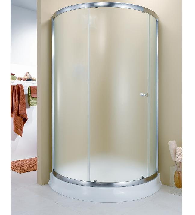 Fleurco Amalfi Arc 3 Frameless Curved Glass Sliding Shower Door Enclosure