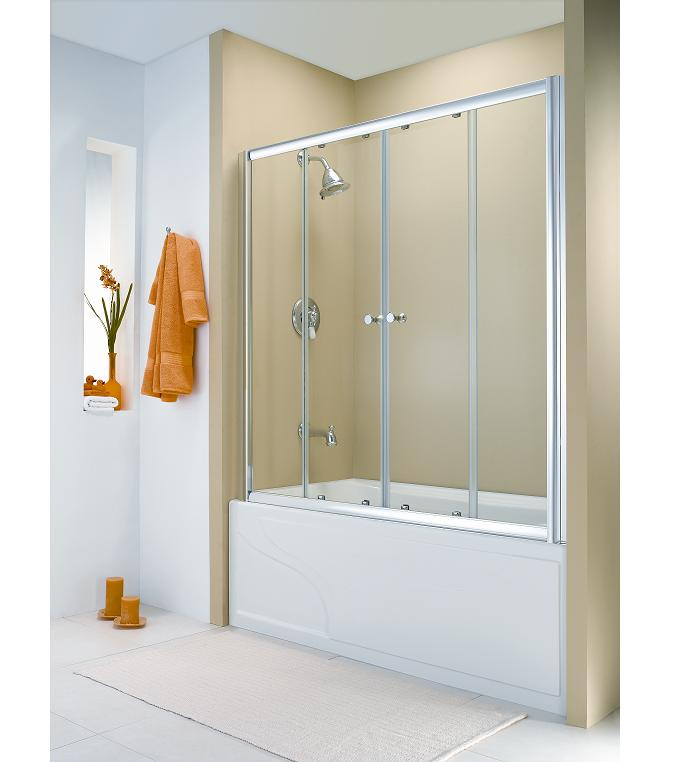 fleurco amalfi framless sliding bath tub doors