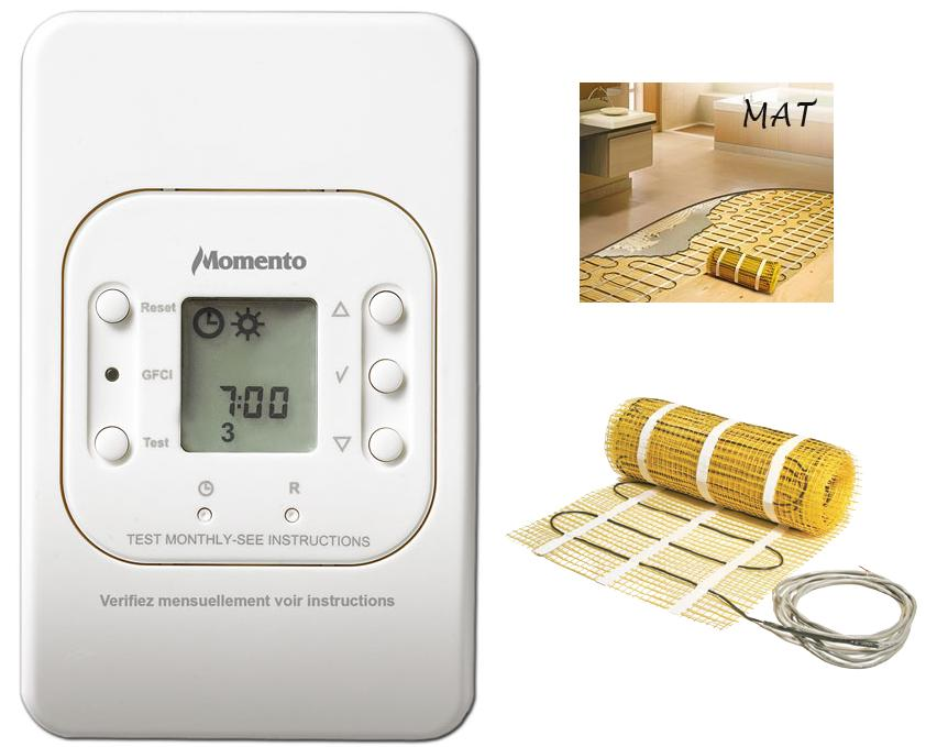 Momento Mat Electric Radiant Floor Heating System