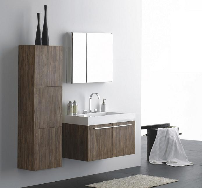 LADA Domino T9001 Wall Hung Bathroom Vanity Set with Mirror Cabinet 36