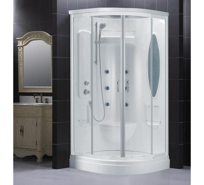 Dreamline Atlantica Jetted Shower with optional Roof and Steam Kit