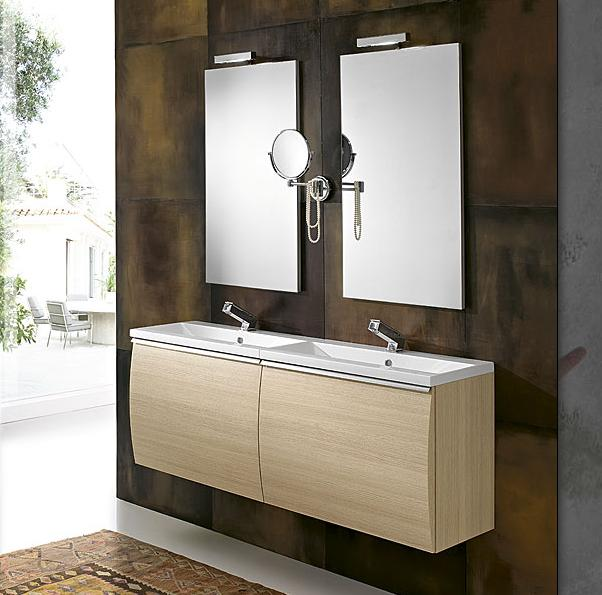 GB Way 06 Double Sink Wall Hung Bathroom Vanity 55