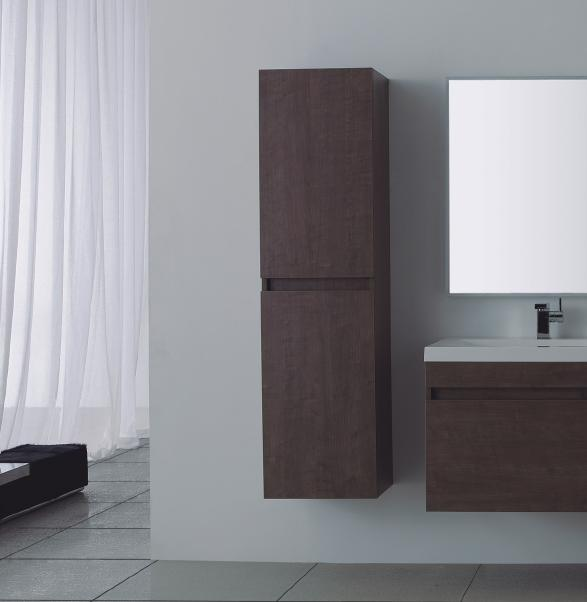 LADA Quadro A40 Wall Hung Bathroom Storage Linen Cabinet 16
