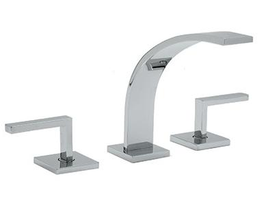 Rohl Wave Collection WA102L 3-Hole Deck Mounted Widespread Faucet with Lever Handles