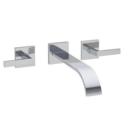 Rohl Wave Collection WA751L 3-HOLE WALL MOUNTED BUILT-IN BATHTUB / LAVATORY FILLER WITH LEVER HANDLES