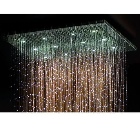 Jaclo 1616-DLCT Square Dream Light Showerhead 16