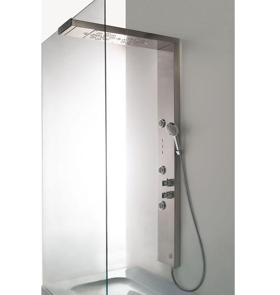 AquaBrass UNDER D851 Shower System Column Tower with Chromatherapy Light