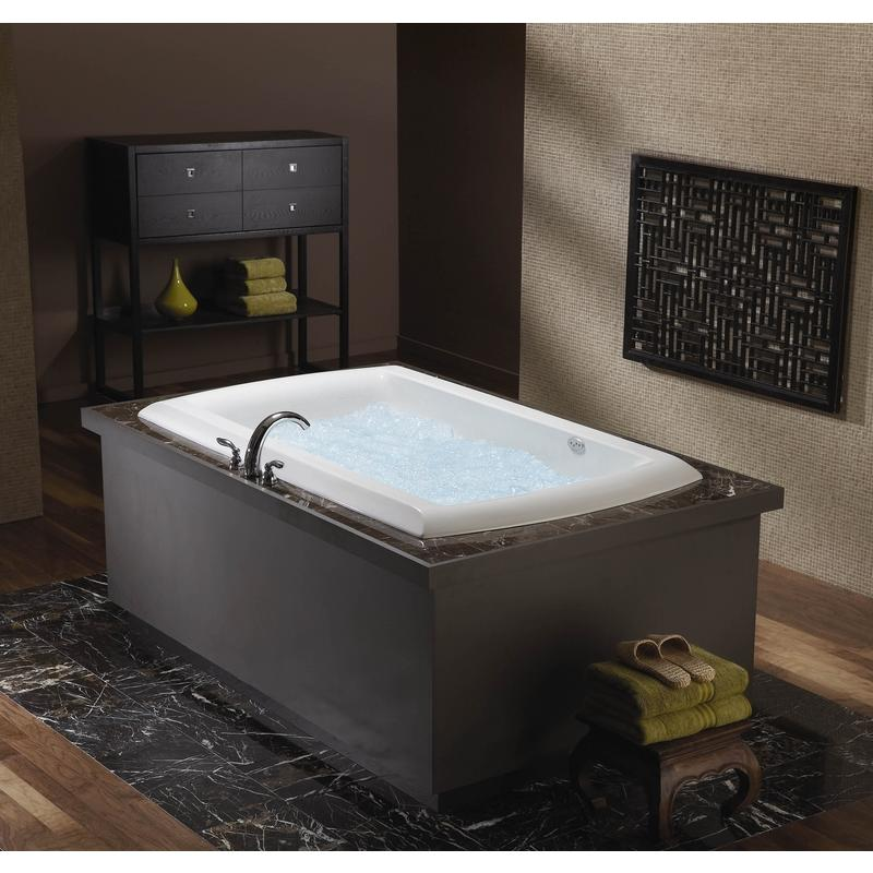 Aquatic LUXEAIR 33 MOTIF Rectangle Whirlpool Airtub Bath