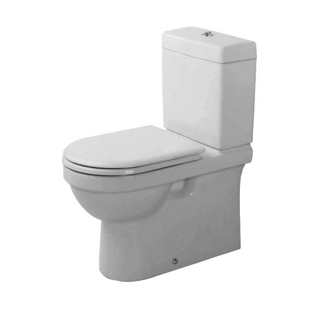 Duravit Happy D D14023 Two-Piece Toilet with rear / back outlet by Sieger Design