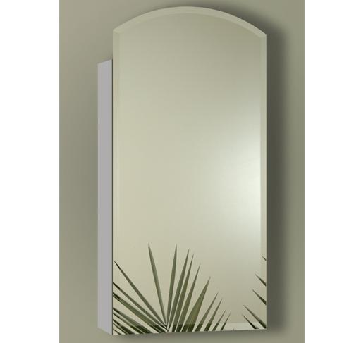 Sofia Joanna Collection IOA2136S Single Door Surface Mount Mirror Cabinet