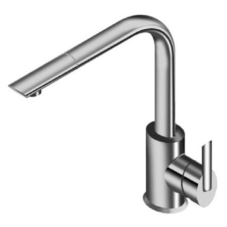 La Torre Ovaline Lever 26881 Single hole kitchen faucet with pull out spray
