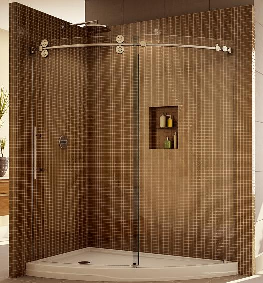 Fleurco KTWSL66 Kinetik Hardware Systems Sliding SLICE Shower Enclosure