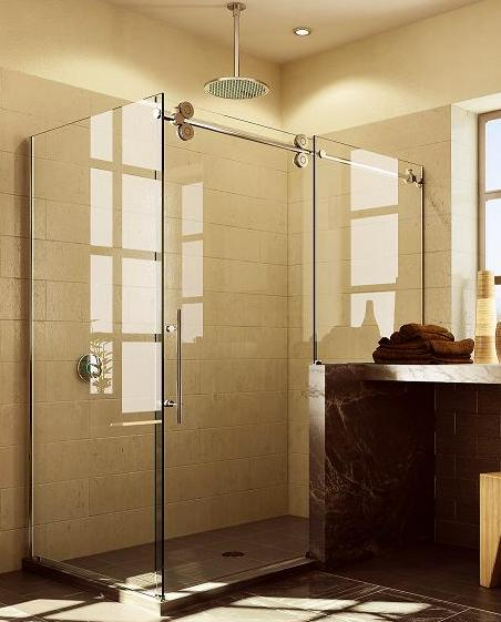 Fleurco Blueprint Kinetik Hardware Systems Sliding Custom Creations Kneewall Shower Enclosure