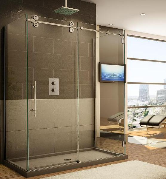 Fleurco KTW360 Three Sided Symmetry Kinetik Hardware Systems Sliding Glass Shower Door