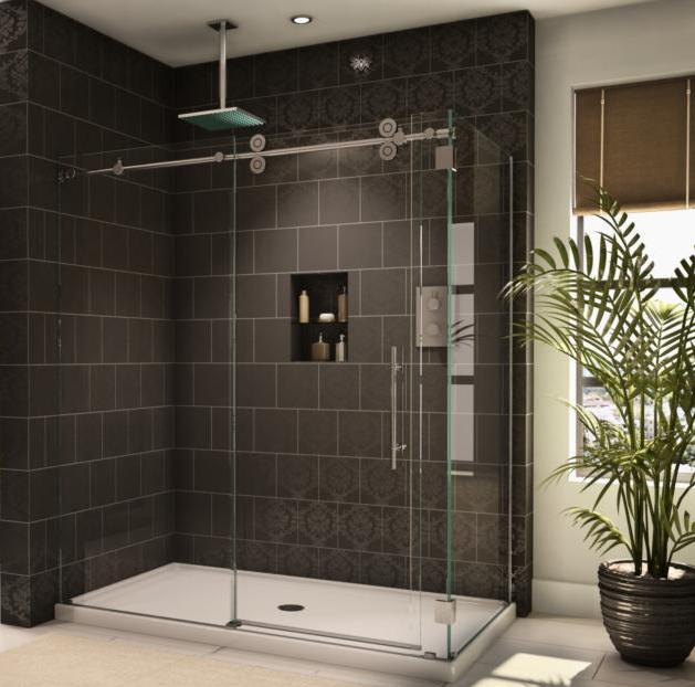 Fleurco KTW27236-CRP Two Sided Symmetry Kinetik Hardware Systems Sliding Glass Shower Door