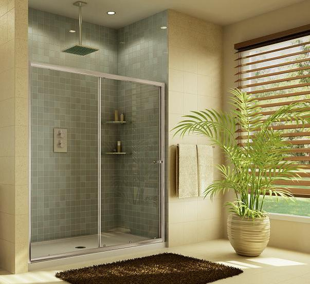 Fleurco Amalfi EAL72 Inline Fremaless Sliding Shower Door with fixed panel