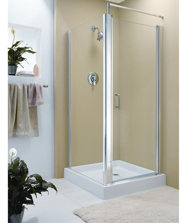 Fleurco Sevilla Square Semi-frameless Glass Shower Enclosure