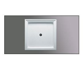 Americh A 3636 ST Single Threshold Center Drain Acrylic Shower Base with integral tile flange